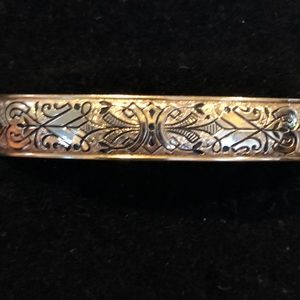 Jewelry - Antique Victorian Hinged 12kt Gold Hayward Bangle